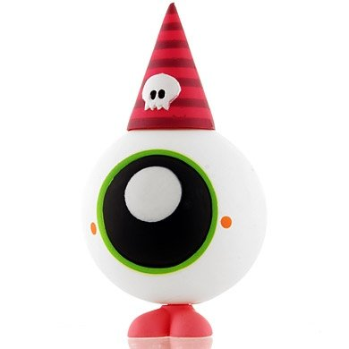 Eye figure by Tado, produced by Kidrobot. Front view.