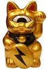 Gold Mini Fortune Cat w/ Lightning Bolt