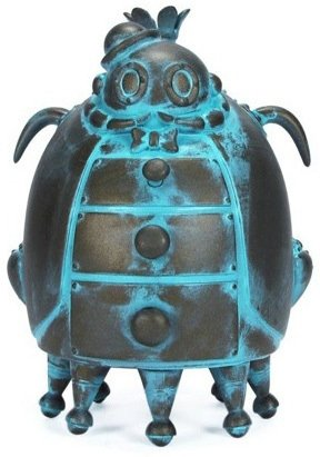 Sir Shilling Copperpenny - Verdigris  figure by Doktor A, produced by Mindstyle. Front view.