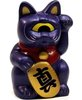 Mini Fortune Cat - Metallic Navy