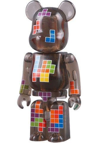 Tetris - Pattern Be@rbrick Series 18 figure, produced by Medicom Toy. Front view.