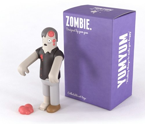 Zombie figure by Yum Yum London. Front view.