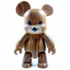 Woodgrain Teddy Bear - Dark Version