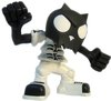 Bobble Head Devil Toyer - Black Head White T-Bone