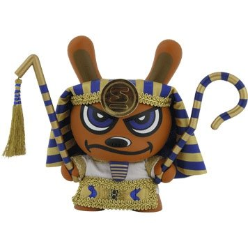 King Tut Dunny Blue figure by Sket One, produced by Kidrobot. Front view.