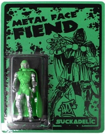 Metal Face Fiend figure by Sket One, produced by Suckadelic. Front view.