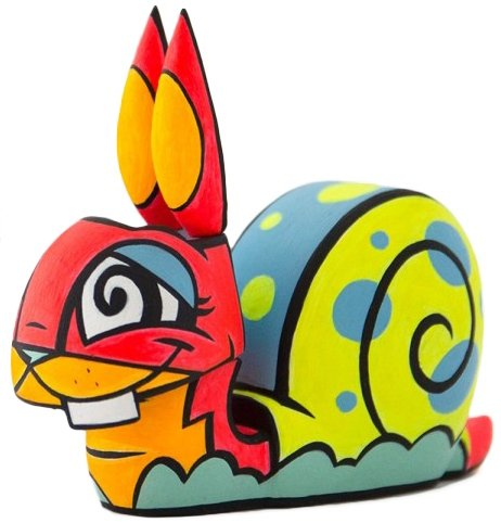 Chaos Minis - Sea Snail Bunny figure by Joe Ledbetter, produced by The Loyal Subjects. Front view.