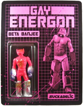 Gay Energon - Beta Banjee figure by Sucklord, produced by Suckadelic. Front view.