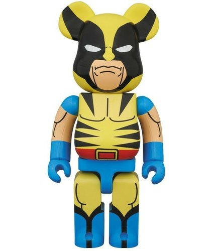 Wolverine Be@rbrick 400% figure by Marvel, produced by Medicom Toy. Front view.