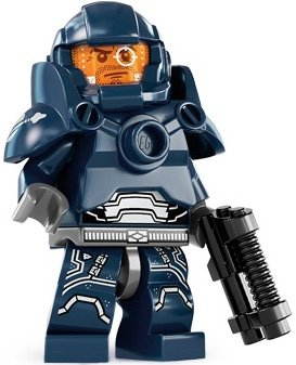 Galaxy Patrol figure by Lego, produced by Lego. Front view.