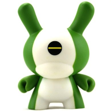 Gel figure by David Horvath, produced by Kidrobot. Front view.