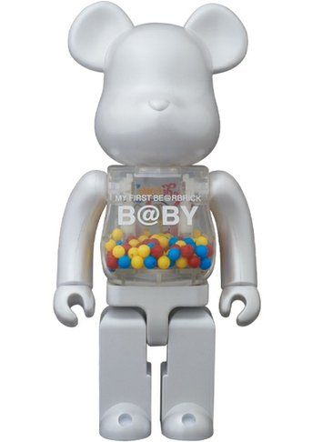 My First Be@rbrick B@by 400%  - Medicom Toy 15th Anniversary  figure by Chiaki Kuriyama, produced by Medicom Toy. Front view.