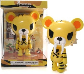 new arrival 6dfb4 718a6 Tiger - Yellow figure by Simone Legno (Tokidoki), produced ...