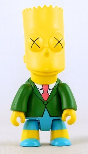 Bart The Funeral figure by Matt Groening, produced by Toy2R. Front view.