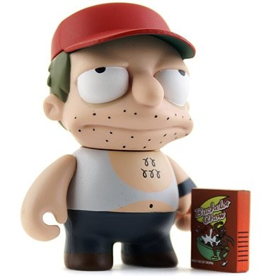 Sal figure by Matt Groening, produced by Kidrobot. Front view.