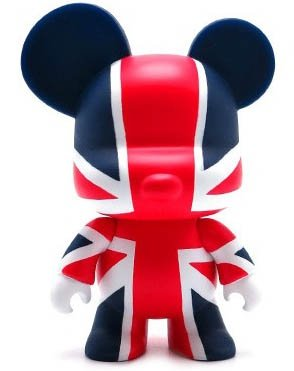 Union Jack - 5 Mini Qee figure by Toy2R, produced by Toy2R. Front view.