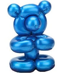 Blue Bear figure, produced by Kidrobot. Front view.