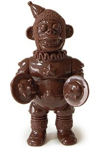 Mini Iron Monkey - Chocolate figure by Kikkake, produced by Kikkake. Front view.
