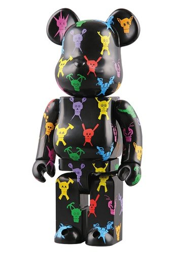 Stussy Destiny Be@rbrick 400% figure by Stussy, produced by Medicom Toy. Front view.