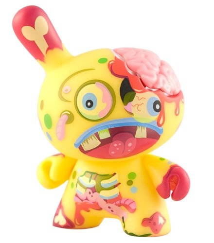 Zombie Dunny figure by Triclops, produced by Kidrobot. Front view.
