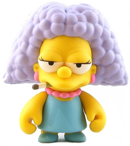 Selma Bouvier figure by Matt Groening, produced by Kidrobot. Front view.