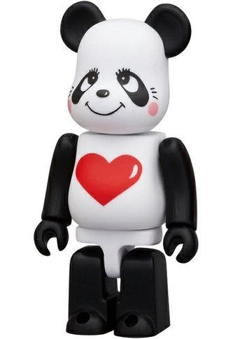 Rune Panda - Animal Be@rbrick Series 23 figure by Rune Naito, produced by Medicom Toy. Front view.