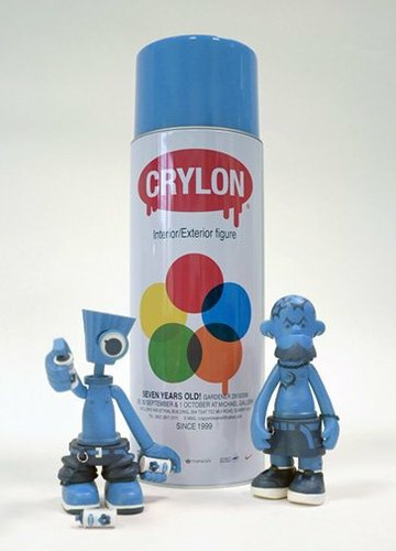 NY Fat Crylon & Tattoo Blue Set figure by Michael Lau, produced by Crazysmiles. Front view.