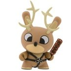 Naughty Reindeer (chase) figure by Chuckboy, produced by Kidrobot. Front view.