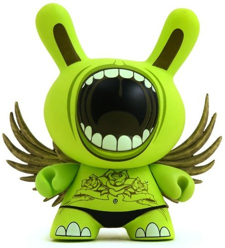 Big Mouth  figure by Deph, produced by Kidrobot. Front view.