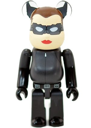 Catwoman, The Dark Knight Rises - Secret Hero Be@rbrick Series 24 figure by Dc Comics, produced by Medicom Toy. Front view.