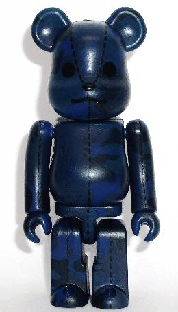 Bape Play Be@rbrick S3 - blue figure by Bape, produced by Medicom Toy. Front view.