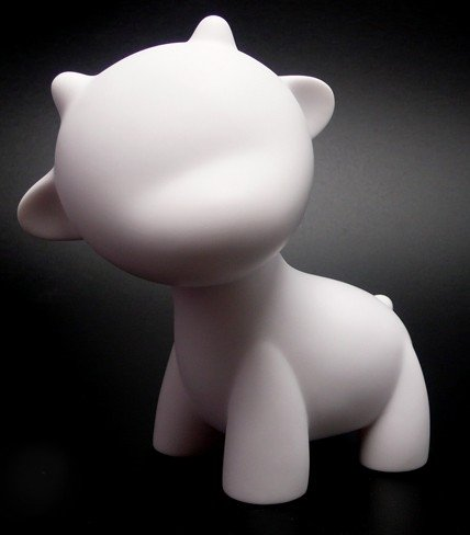 Mini Raffy figure, produced by Kidrobot. Front view.