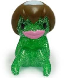 Suiko - Sitting, Green Glitter figure by Sunguts, produced by Sunguts. Front view.