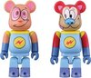 "Ren & Stimpy ""Space Madness"" Be@rbrick 100% 2 Pack Set"