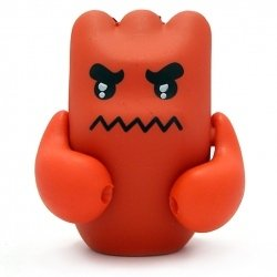 Wee Devil figure by Shawn Smith (Shawnimals), produced by Kidrobot. Front view.