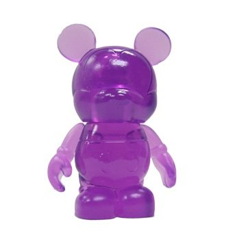 Purple figure by Disney, produced by Disney. Front view.