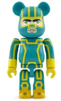 Kick-Ass 2 - Secret Hero Be@rbrick Series 26 figure, produced by Medicom Toy. Front view.