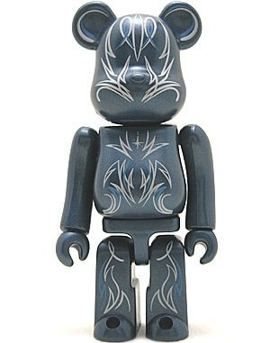 Pattern Be@rbrick Series 3 figure, produced by Medicom Toy. Front view.