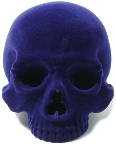 1/1 Skull Head - Imperial Purple figure by Secret Base, produced by Secret Base. Front view.