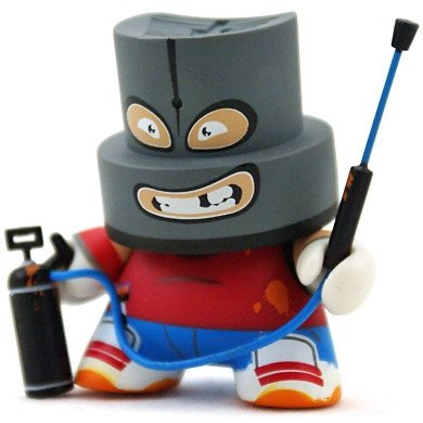 Vandal figure by Tizieu, produced by Kidrobot. Front view.