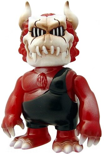 Gargadeath - Red Death figure by Gargamel X Napalm Death, produced by Gargamel. Front view.