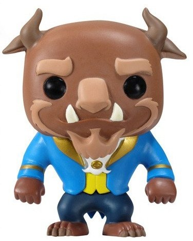 The Beast  figure by Disney, produced by Funko. Front view.