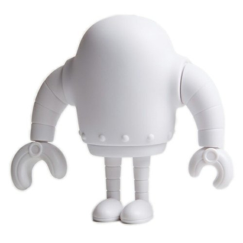 Blank Sketchbot  figure by Steve Talkowski, produced by Solid. Front view.