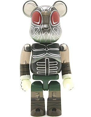 Cocobat - Secret Animal Be@rbrick Series 8 figure by Pushead, produced by Medicom Toy. Front view.