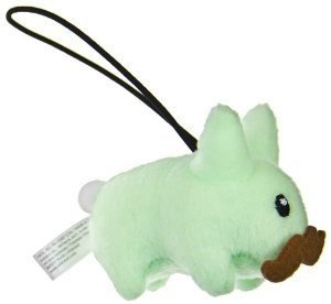 Melon Happy Labbit Mini Plush figure by Frank Kozik, produced by Kidrobot. Front view.