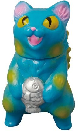 Blue Micro Negora  figure by Konatsu X Max Toy Co., produced by Max Toy Co.. Front view.