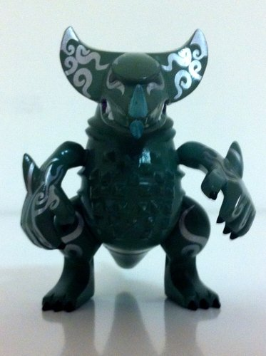 Gomora - dark green version figure by Touma, produced by Bandai. Front view.