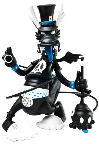 Dweezil figure by Kronk, produced by Kidrobot. Front view.