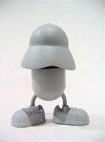B-Boy figure by Jeremy Madl (Mad), produced by Kaching Brands. Front view.
