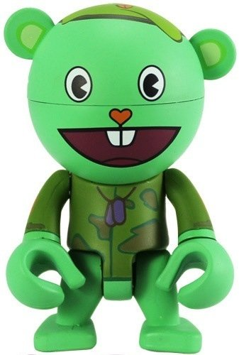 Flippy  figure by Happy Tree Friends, produced by Play Imaginative. Front view.